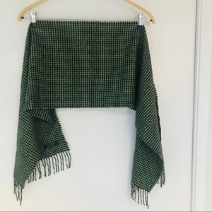 Gorgeous cashmere checkered scarf, from England